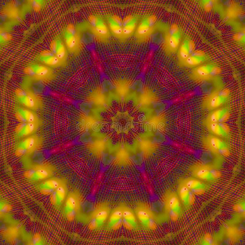 抽象数字装饰和谐想象力装饰创造性的纹理万花筒,坛场时尚,魔术,油漆 向量例证
