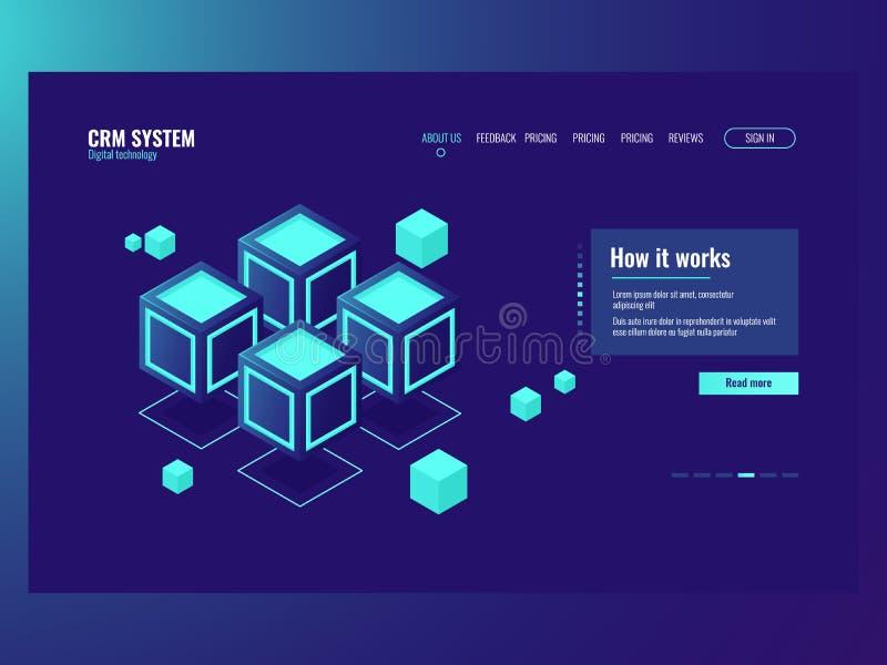 抽象数据存储区的概念,服务器室,主持网站页,数据库数据中心象黑暗 皇族释放例证
