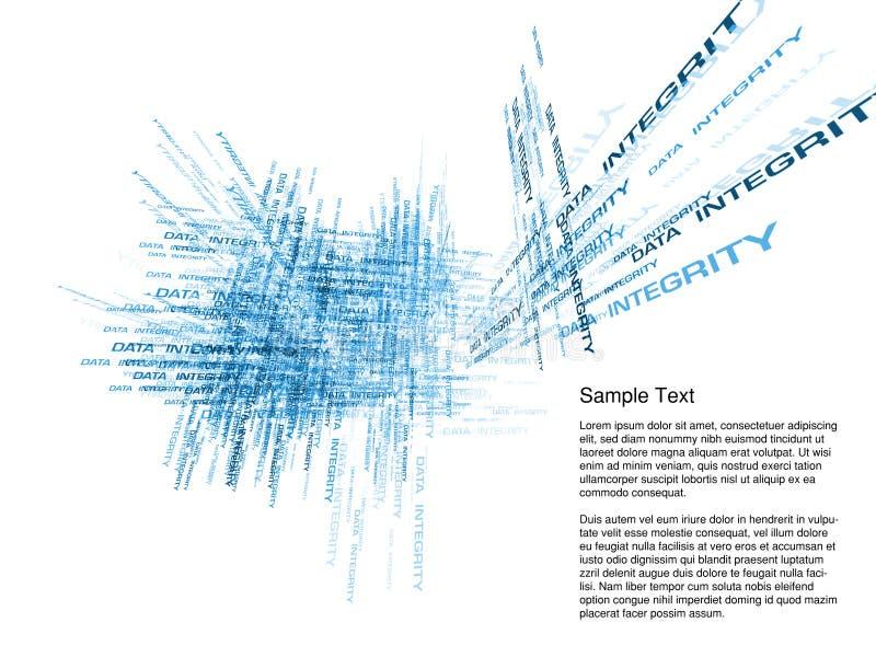 抽象数据完整性 库存例证