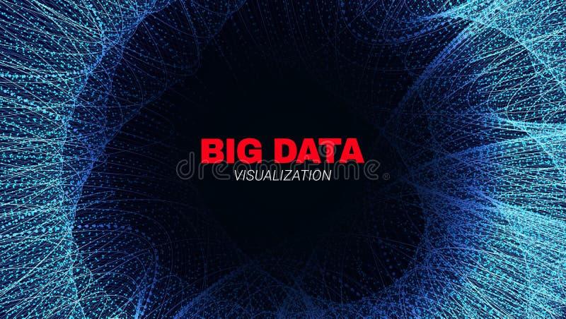 抽象数据流传染媒介海报 向量例证