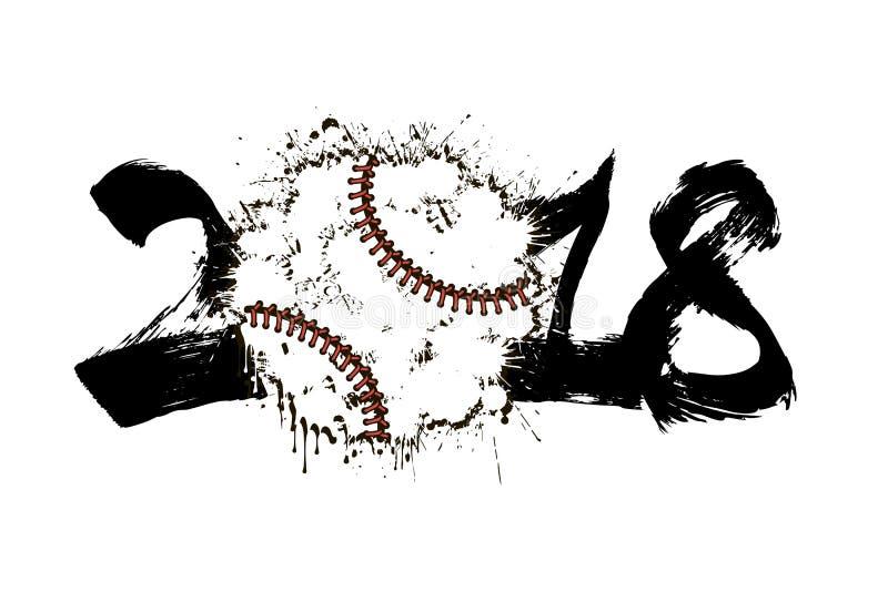抽象数2017年和棒球 皇族释放例证