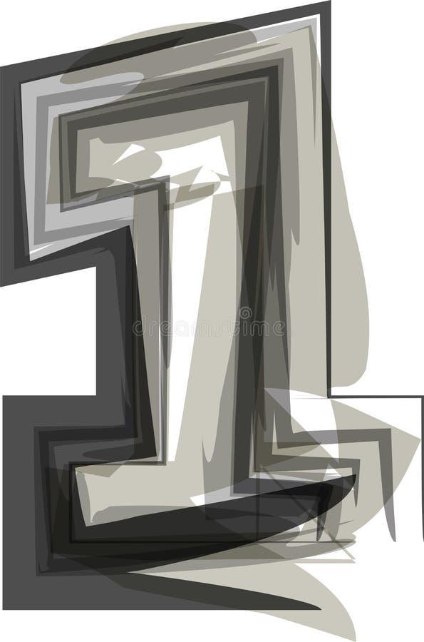 抽象数1 向量例证