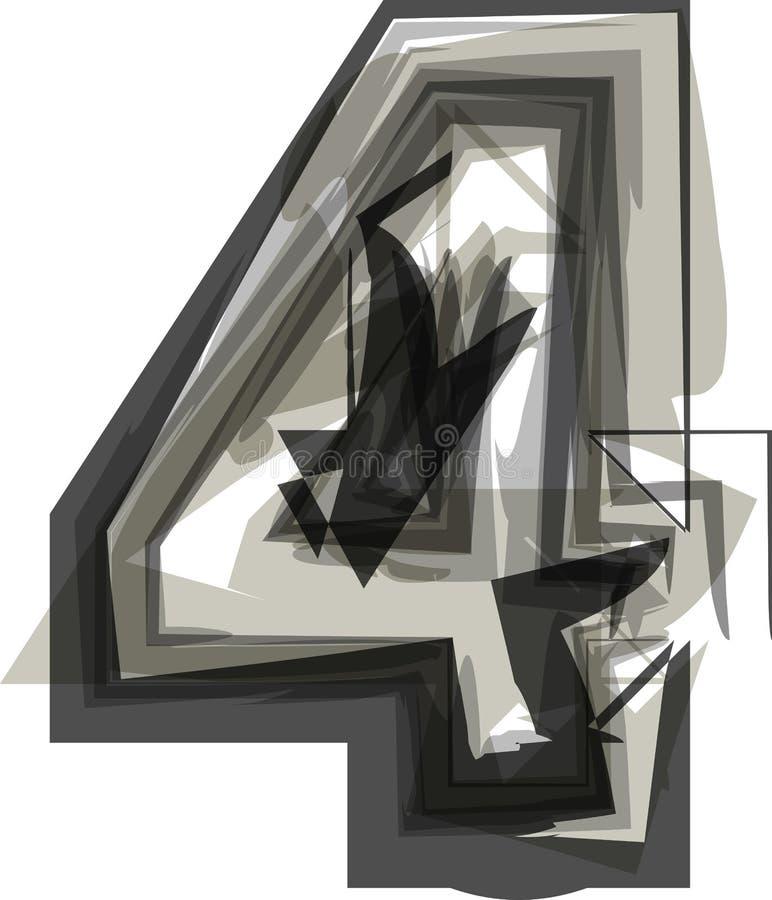 抽象数4 皇族释放例证
