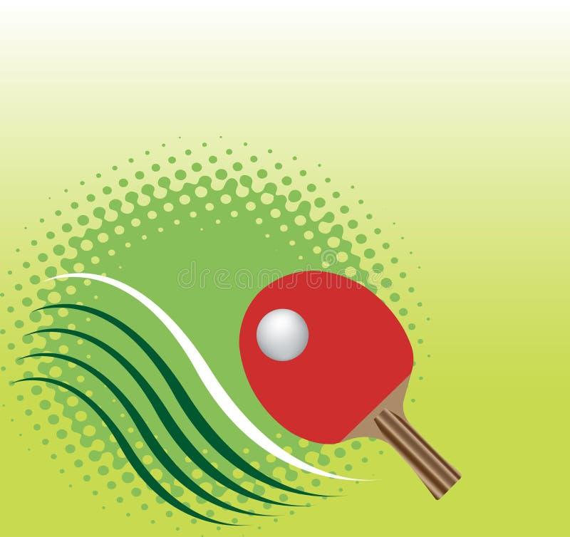 抽象方形的乒乓球横幅 绿色背景 库存例证