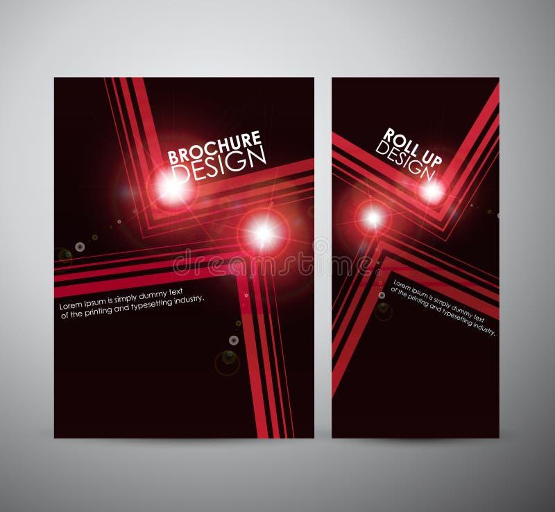 抽象方形的框架背景小册子业务设计模板或卷起 向量例证