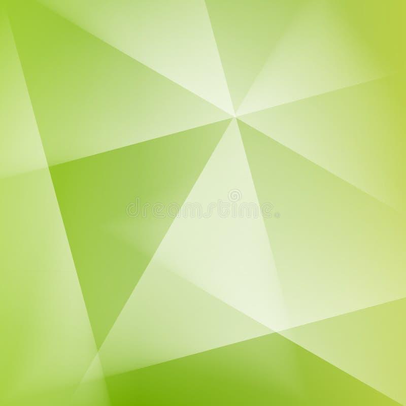 抽象方形的绿色软的淡色天波提取光 皇族释放例证