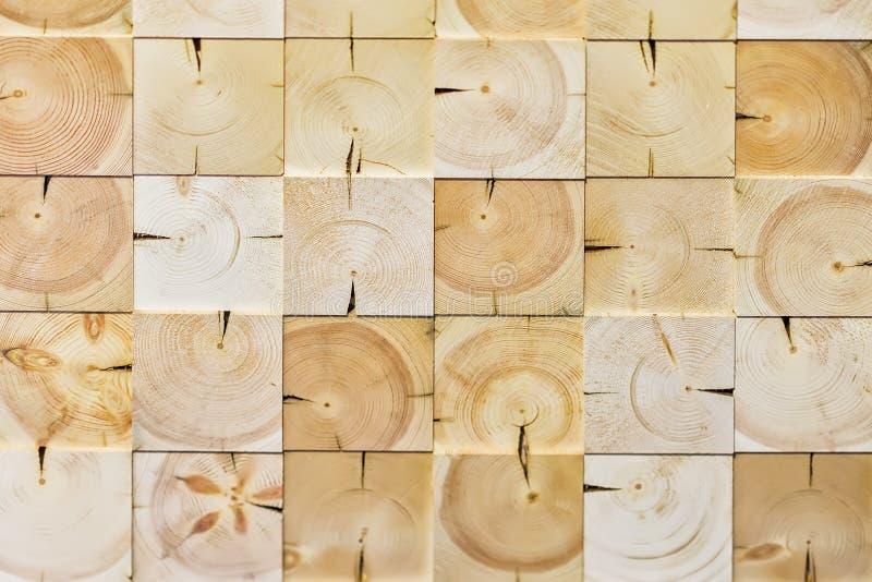 抽象方格的样式,从另外ecologik木装饰瓦片,自然木纹理,现代背景的 免版税库存图片
