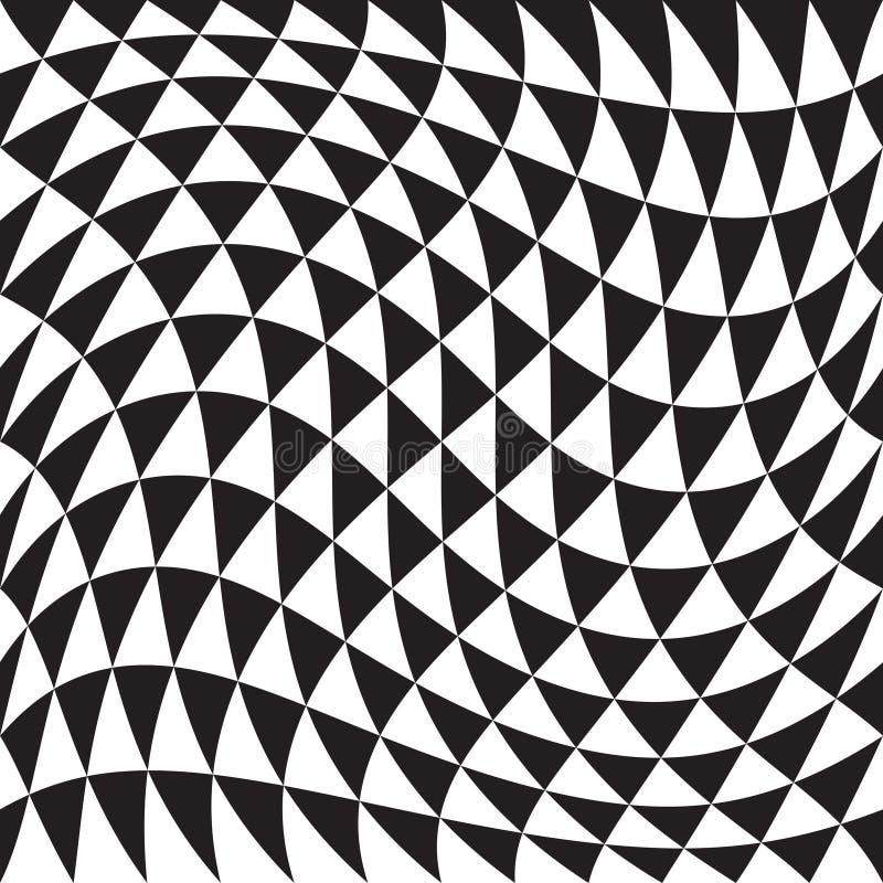 抽象无缝的三角样式 皇族释放例证