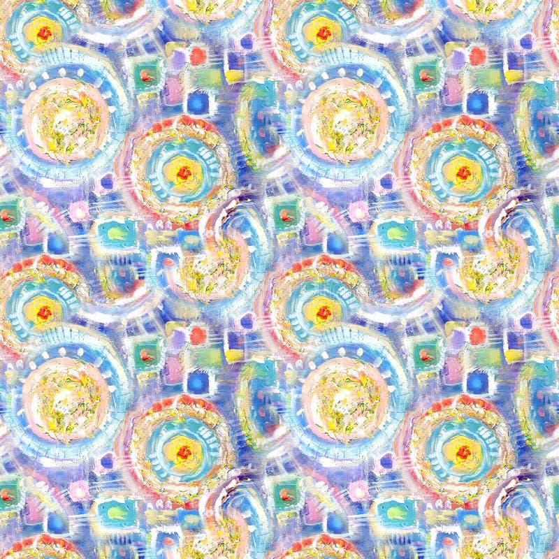抽象无缝的丙烯酸酯的装饰样式 在印象主义样式的无缝的纹理网的,印刷品,套,织品,纺织品,网 库存例证
