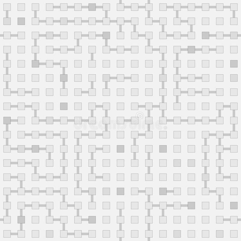 抽象无缝的传染媒介电路迷宫单色样式- 库存例证