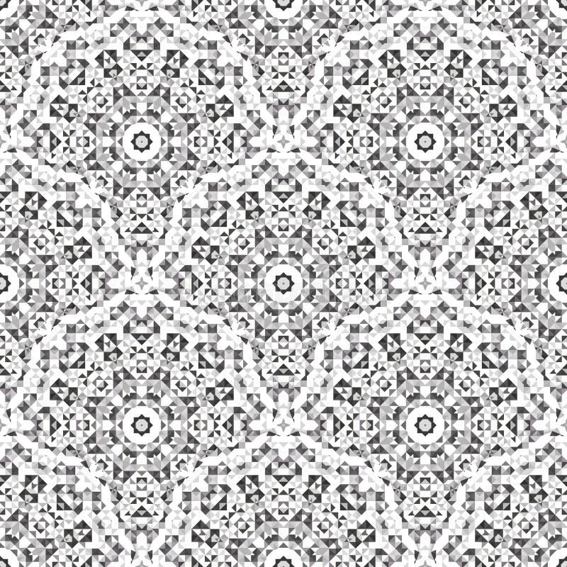 抽象无缝的几何传染媒介样式 向量例证