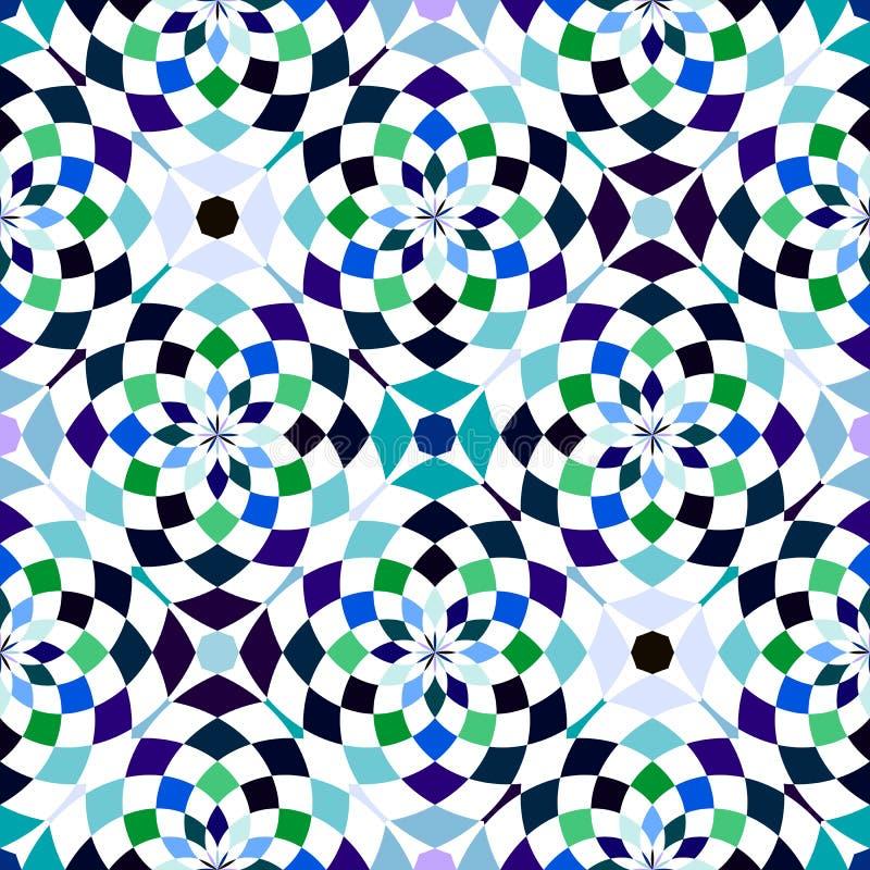抽象无缝的几何样式 无缝的万花筒 几何模式 皇族释放例证