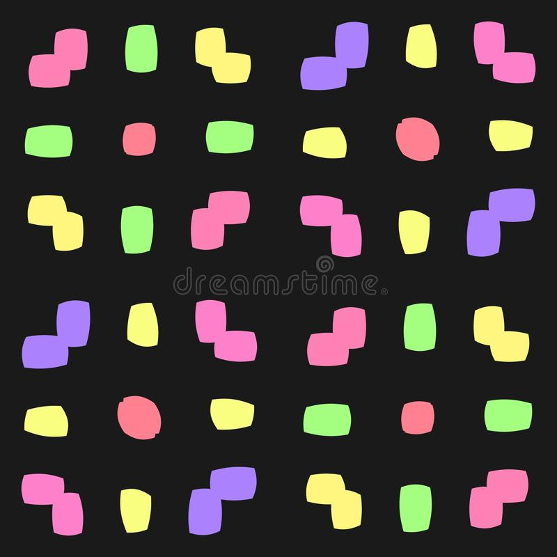 抽象无缝的几何样式 无缝的万花筒 向量例证