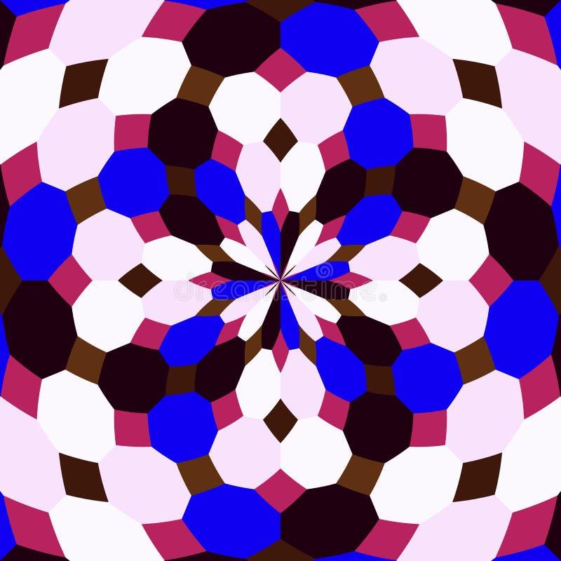 抽象无缝的几何样式 无缝的万花筒 免版税库存图片
