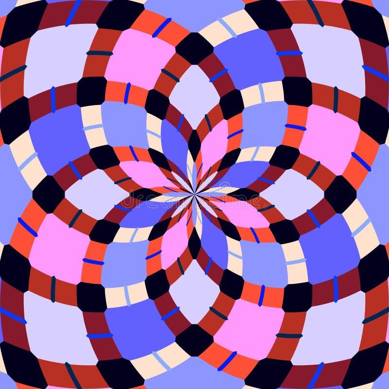 抽象无缝的几何样式 无缝的万花筒 库存图片