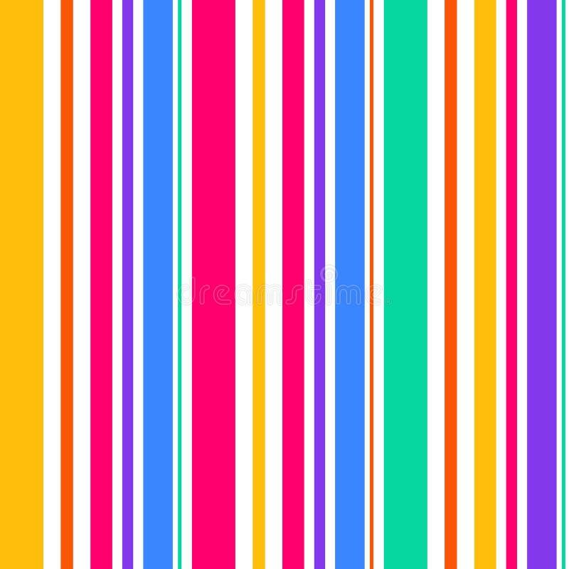 抽象无缝的彩虹颜色条纹 背景黑色线路白色 皇族释放例证