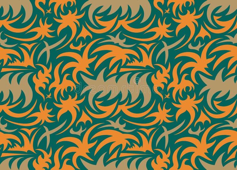 抽象无缝的有机样式 也corel凹道例证向量 皇族释放例证