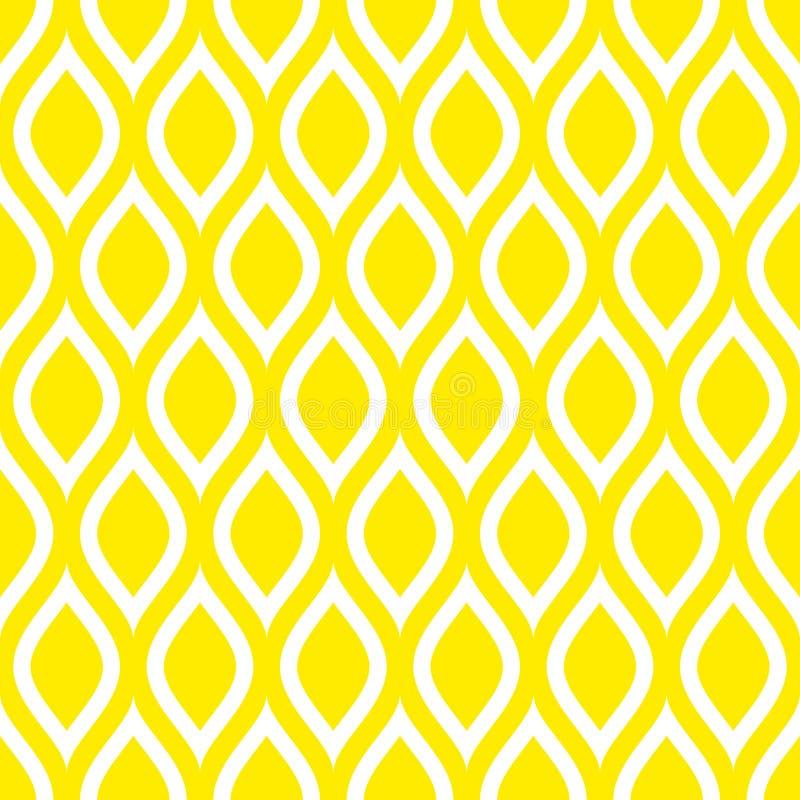 抽象无缝的样式柠檬或波浪黄色正方形 向量例证