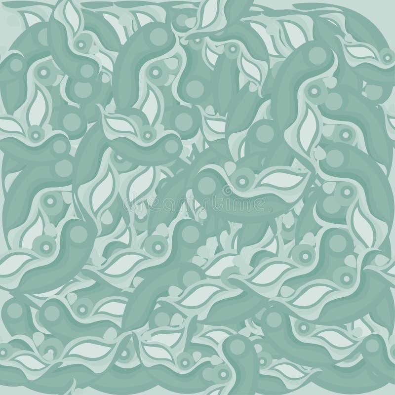 抽象无缝的样式绿化树荫 库存例证
