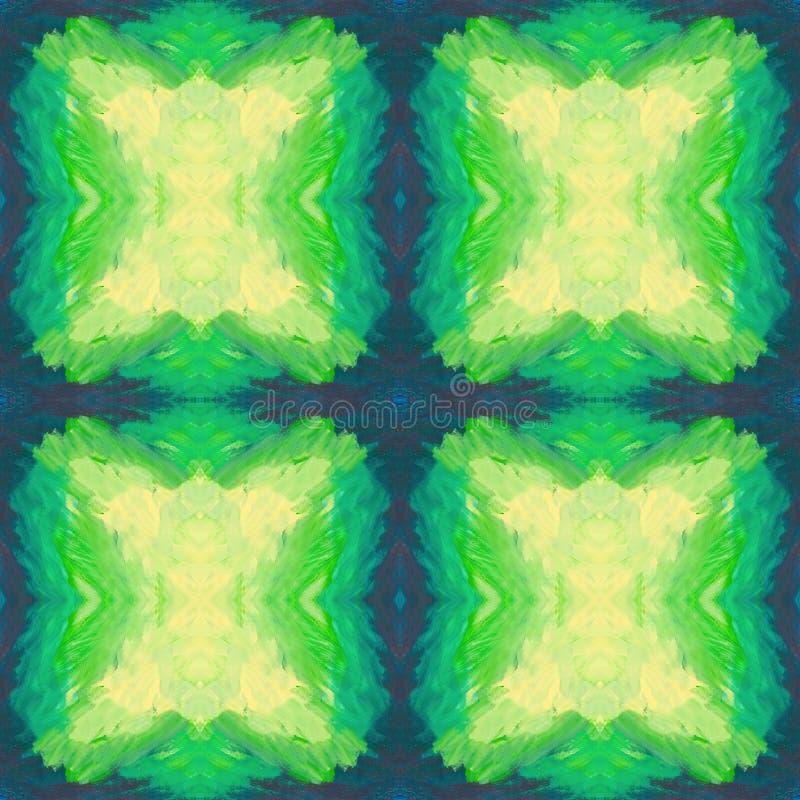 抽象无缝的样式whith被画的正方形 皇族释放例证