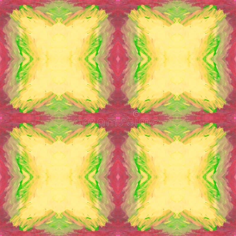 抽象无缝的样式whith被画的正方形 向量例证