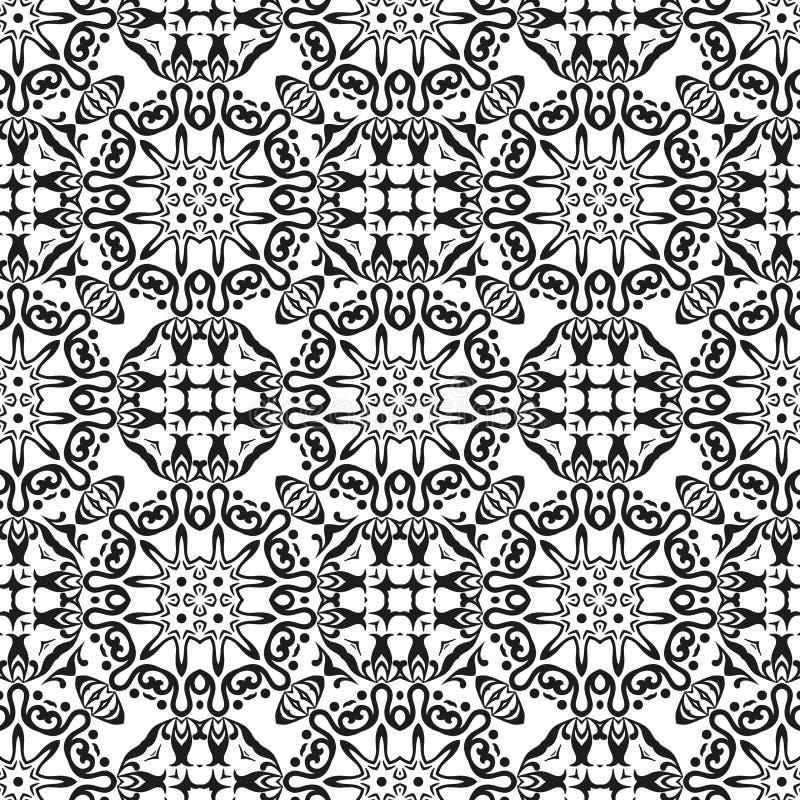 抽象无缝的概述样式 向量例证
