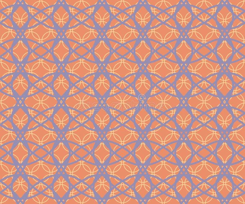 抽象无缝的相交的箍的织品减速火箭的样式 皇族释放例证