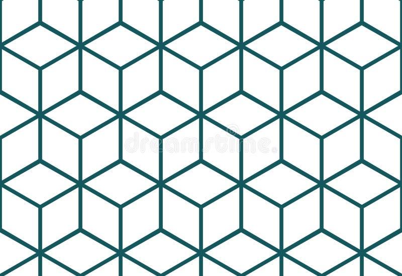 抽象无缝的立方体样式 皇族释放例证