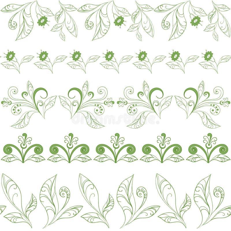 抽象无缝的花卉样式 皇族释放例证