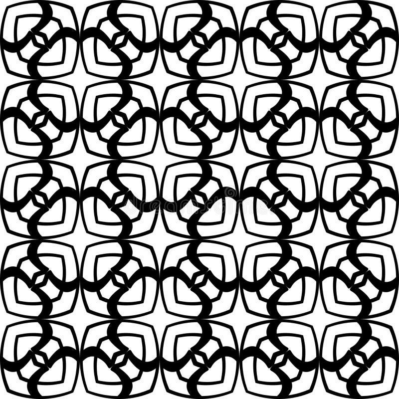 抽象无缝的装饰几何轻的黑&白色样式背景 向量例证