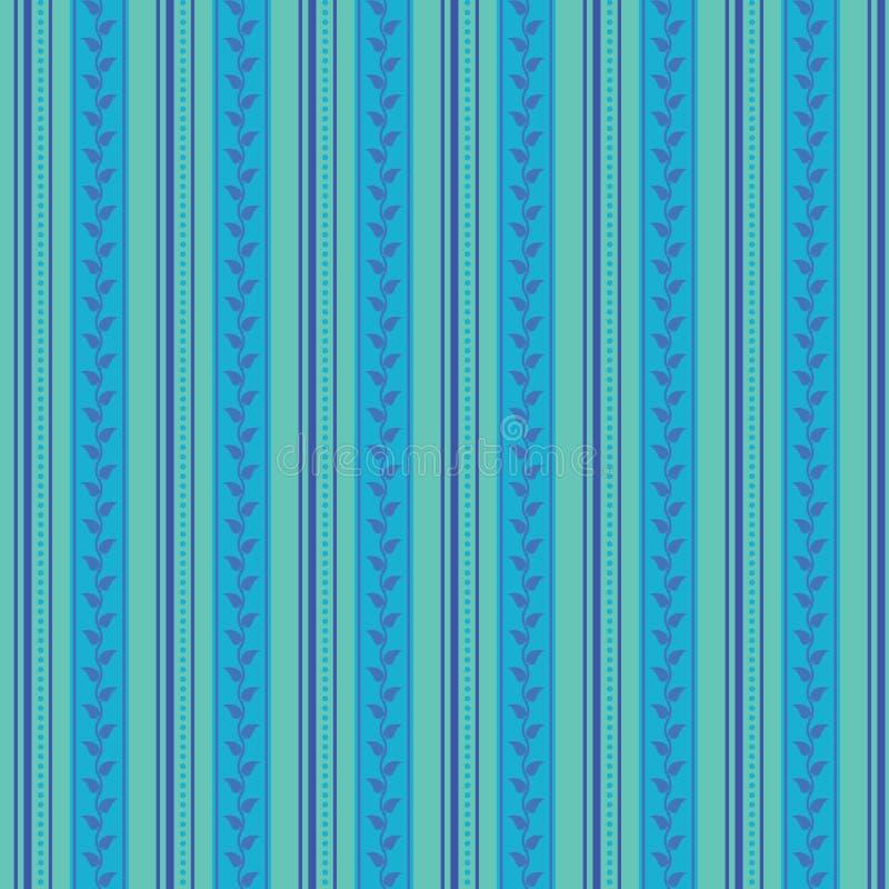 抽象无缝的装饰品样式,传染媒介例证,用垂直条纹做的减速火箭的背景加点和叶子,葡萄酒臀部 向量例证