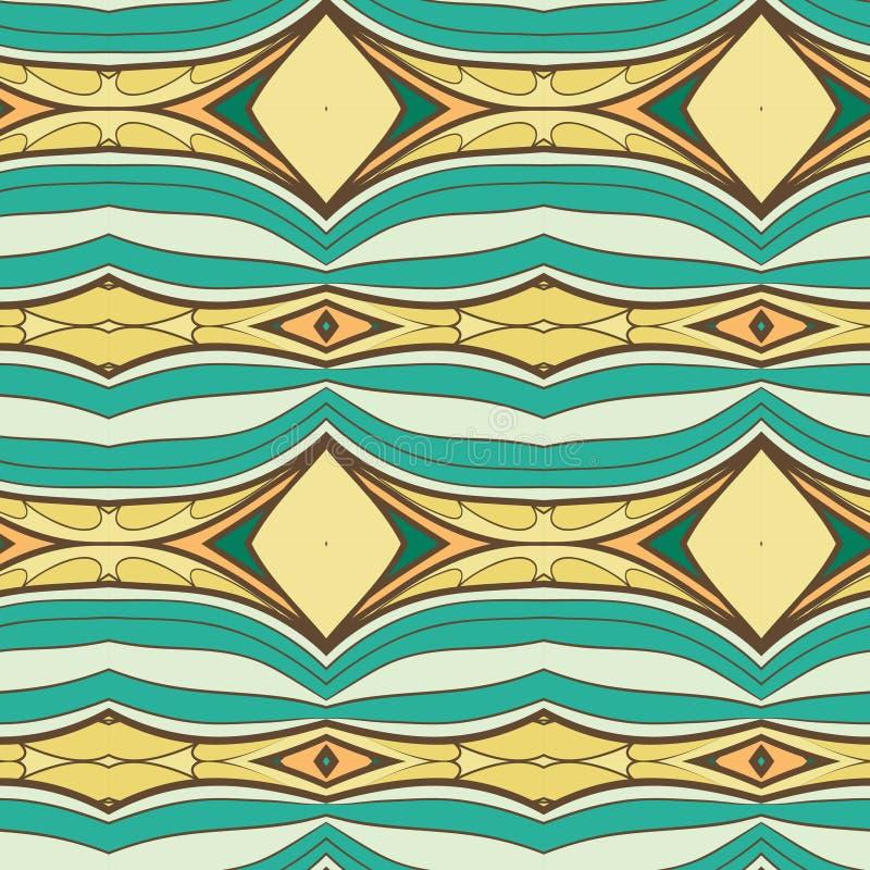 抽象无缝的装饰品样式 万花筒作用 种族锦缎主题 向量例证
