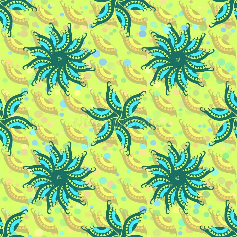 Download 抽象无缝的颜色背景 向量例证. 插画 包括有 不尽, 花卉, 蓝色, 装饰, 装饰品, 绿色, 靠山, 叶子 - 72354893