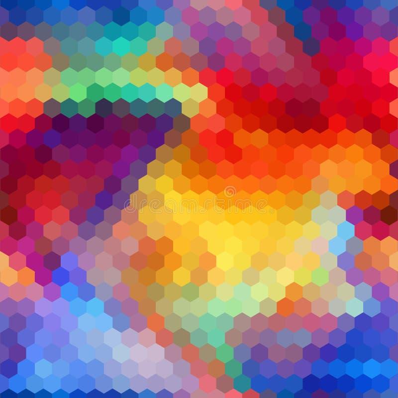 抽象无缝背景明亮的颜色的夏天 库存例证