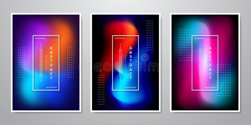 抽象时髦梯度塑造流动屏幕的背景,广告,背景,小册子,盖子,飞行物,邀请,音乐 库存例证
