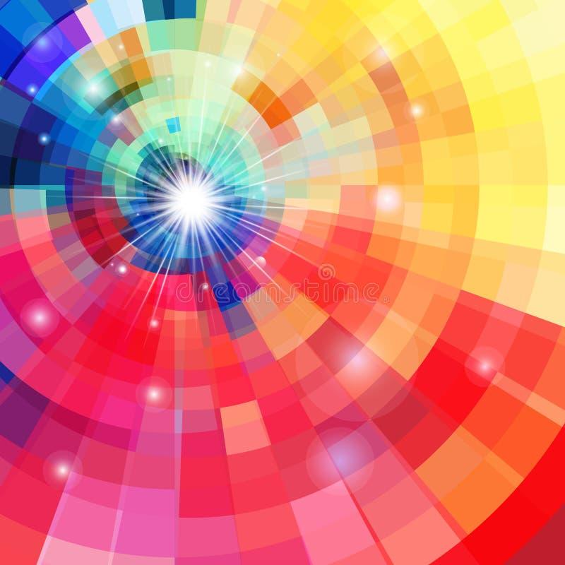 抽象明亮的五颜六色的万花筒 库存例证