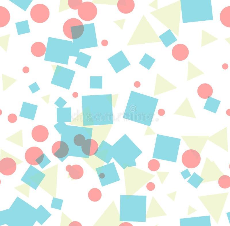 抽象明亮的五颜六色的无缝的样式 库存例证