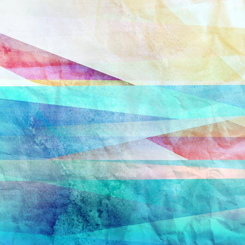 抽象明亮的五颜六色的背景 向量例证
