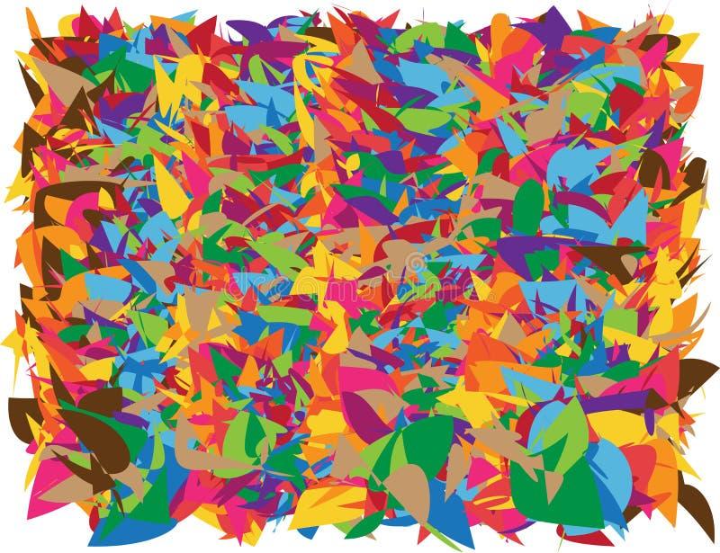 抽象明亮的形状背景 向量例证