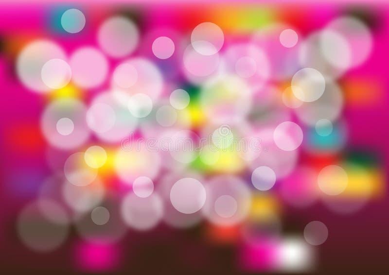 抽象明亮的泡影背景 向量例证