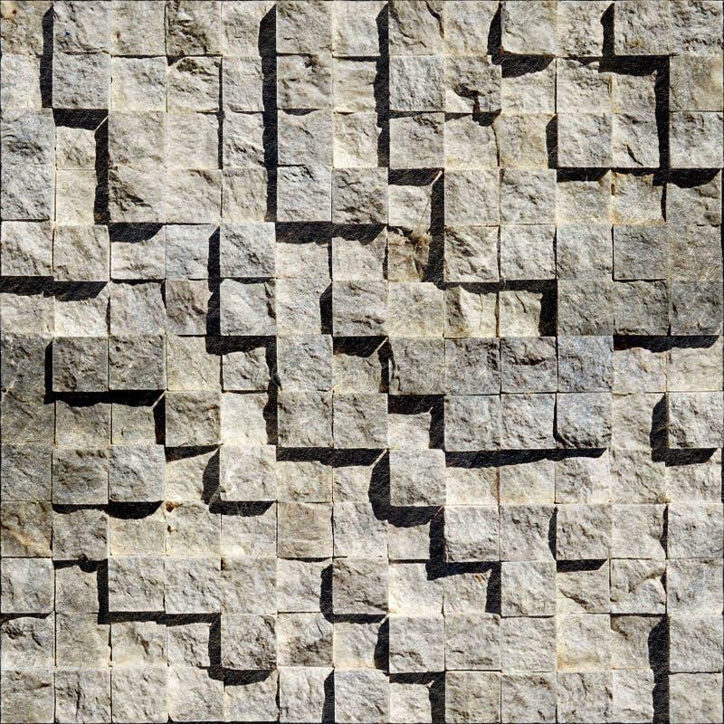 抽象明亮的石立方体 免版税图库摄影