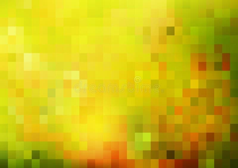 抽象明亮的背景,绿色和晴朗 库存例证