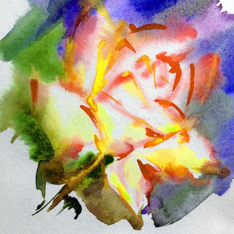 抽象明亮的色的装饰背景 手工制造花卉的样式 美丽的嫩浪漫不可思议的花,做在 库存例证