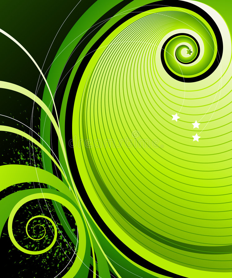 抽象星形漩涡 库存例证