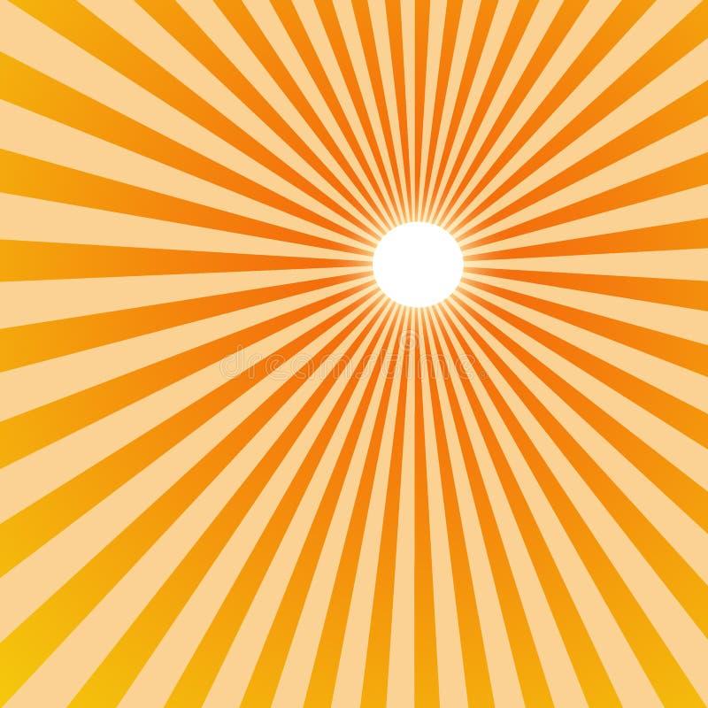 抽象星期日光芒 向量例证