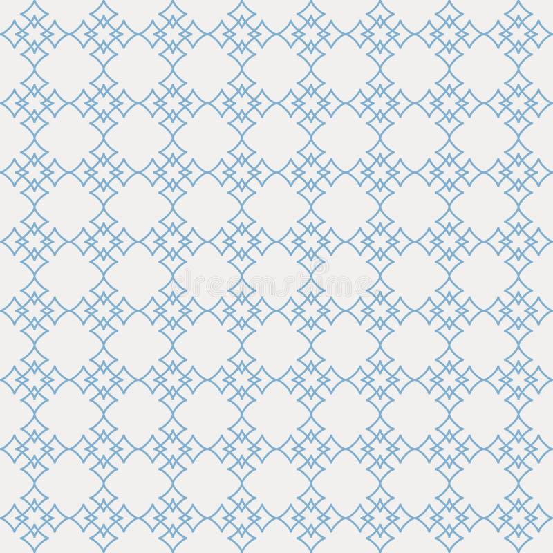 抽象星的传染媒介无缝的样式在最低纲领派线艺术的 库存例证