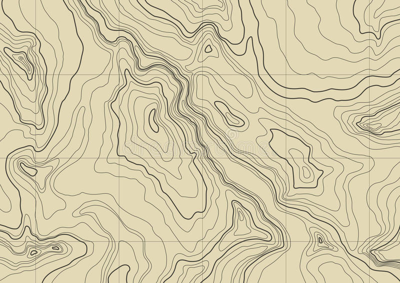 抽象映射地形学向量 皇族释放例证