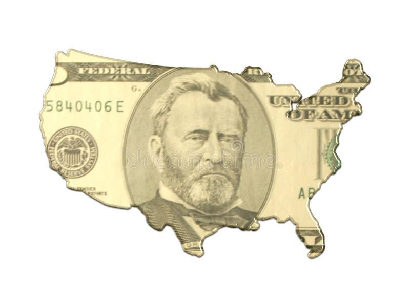 抽象映射货币 向量例证