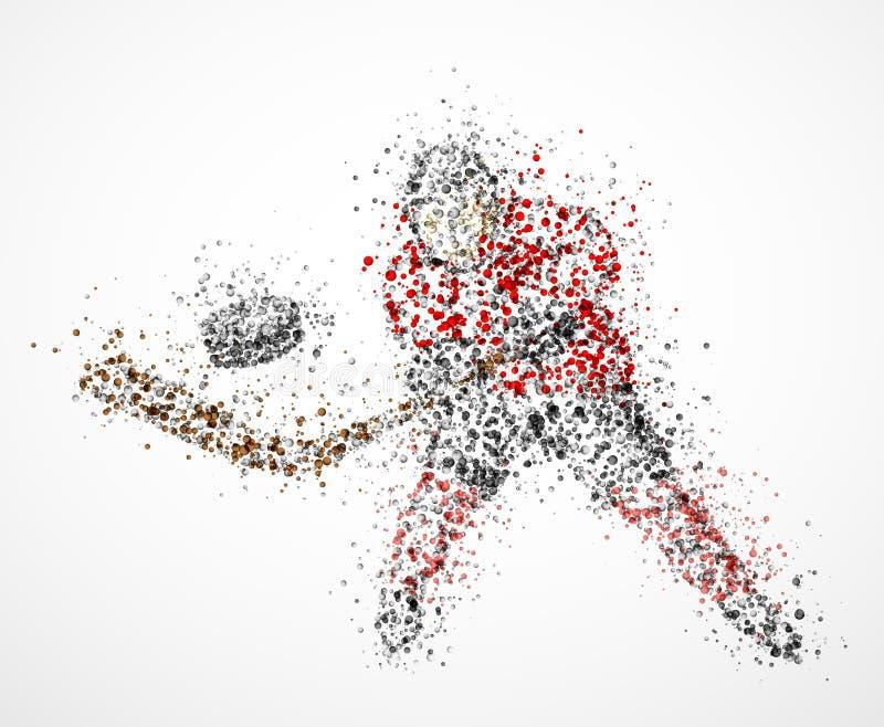 抽象曲棍球运动员 库存例证