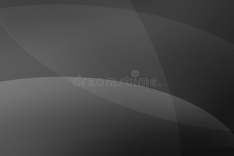 抽象曲线抽象黑和灰色背景挥动线覆盖物 免版税库存图片